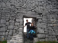 at the entrance to Dun Aonghasa Aran Islands Ireland, Day Trip, West Coast, Entrance, Entryway, Door Entry