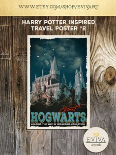 Harry Potter Movie Poster Hogwarts School of Witchcraft Wizardry Travel Poster Print wall Christmas House Warming Gift Children Room decor