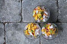 Asiatisk rejecocktail med mango, kokos og avocadocreme