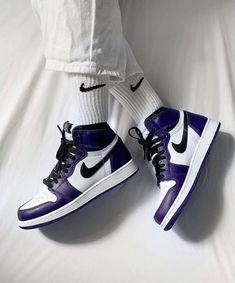 Air Jordan Retro, Jordan 1 High Og, Nike Air Force 1 Outfit, Nike Outfits, Purple Basketball Shoes, Zapatillas Nike Jordan, Baskets Jordan, Air Jordans, Sneakers Fashion