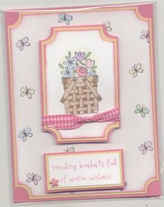Basket full of flowers for you by LPuite - Cards and Paper Crafts at Splitcoaststampers