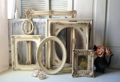 Large Antique Cream Very Distressed Vintage by WillowsEndCottage