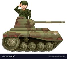 Soldier on a tank vector image on VectorStock School Images, Cute Girl Wallpaper, Bernardo, Teaching Aids, Single Image, Military Art, Adobe Illustrator, Cute Girls, Army Cake