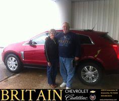 #HappyAnniversary to Thomas Giampolo on your 2014 #Cadillac #SRX from Scott Monroe at Britain Chevrolet Cadillac!