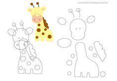 giraffa in feltro cartamodello - Cerca con Google