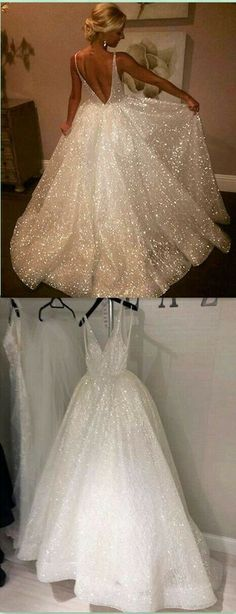 Sexy V-Neck A-Line Prom Dresses,Long Prom Dresses,Cheap Prom Dresses, Wedding Dress, Formal Women Dress, LP044