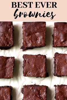 Brownie Recipes 542613455106717718 - These Best Ever Brownies from scratch are fudgy and made with a delicious homemade frosting! (Frosting is optional but recommended) This really is the best ever chewy brownie recipe! Source by KrollsKorner Christmas Desserts, Easy Desserts, Delicious Desserts, Yummy Food, Beste Brownies, Chewy Brownies, Best Ever Brownies, Brownie Frosting, Homemade Frosting