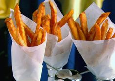 Baked Sweet Potato Fries from FoodNetwork.com Gonna make these babies tonight for a side dish. Yummy!