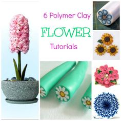 6 Polymer Clay Flower Tutorials from CraftGossip