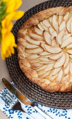 French-inspired Apple Galette perfectly set for a picnic!  Inspired by The Hundred-Foot Journey Movie – In Theaters Friday