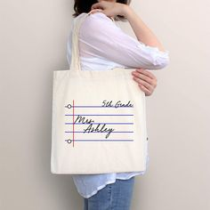 Teacher gift, teacher tote, personalized tote, graduation gift, gift for . Gifts For Professors, Teacher Canvas, Teacher Tote Bags, Teacher Appreciation Gifts, New Teacher Gifts, Teacher Stuff, Coffee Gifts, School Gifts, Thank You Gifts