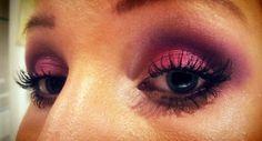 Pink prom make-up