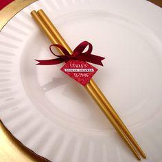 Gold chopstick