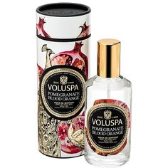Voluspa 'Maison Noir' Home & Body Mist (160 SEK) ❤ liked on Polyvore featuring home, home decor, home fragrance, perfume, pomegranate blood orange, home scents и voluspa