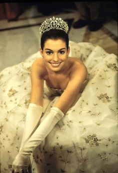 Anne Hathaway in Princess Diaries. Love this movie.