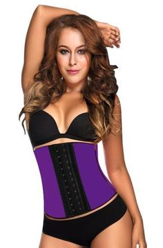 c378d4339c8 9Pcs Steel Bone Waist Shaper Corset Waist Trainer Latex Shapewear Corset  Women Waist Cincher