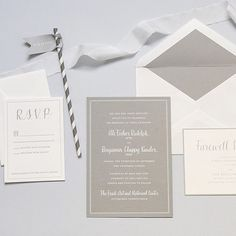Super excited for this darling couple and the amazing celebration they will have this weekend! Also, white on gray is just the prettiest ever! #gray #modern #wedding #invitations #stationery #fourteenforty