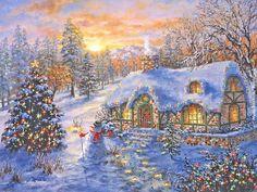 New year, christmas tree, winter, night wallpaper