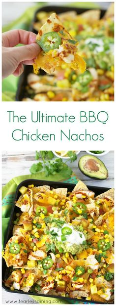 The Ultimate Grilled BBQ Chicken Nachos http://www.fearlessdining.com