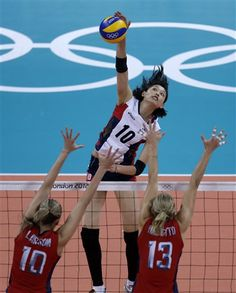 Kim Yeon-koung : sachant que la hauteur du filet est de 2m24, je vous laisse apprécier la performance de l'athlète !