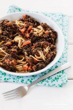 Spaghetti mit schwarzen Linsen | food-vegetarisch.de