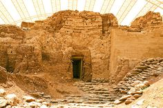 The ancient mud brick gate at Dan, Israel, is nearly 4,000 years old. It is very likely that Abraham of the Bible walked through it. When hi...