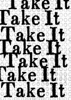 Take It - Limited Edition Hard Cover - Joshua Beckman