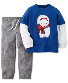 Carter's Toddler Boys' 2-Piece Layered-Look Polar Bear T-Shirt & Pants Set