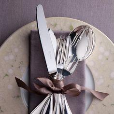Flatware Rubans Christofle silver plated