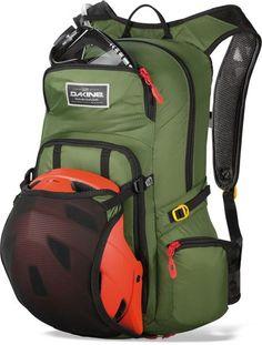 d7db66b58d RUCKSACKS - Dakine AMP 18L Cycling Rucksack Backpack With Reservoir - Olive  - Clothes Barn
