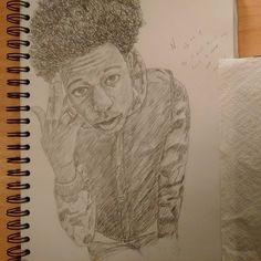 """If it don't hit my spirit, I don't get near it.. #instaart #pencil #drawing #illustration #sketchbook #youngblackartists #joeybadass #bigdusty"""