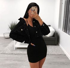 ideas womens fashion spring casual cute outfits school parties for 2019 Baddie Outfits Casual, Cute Casual Outfits, Baddie Outfits Party, Cute All Black Outfits, Teen Party Outfits, Bad And Boujee Outfits, Birthday Outfits, Casual Jeans, Birthday Dresses