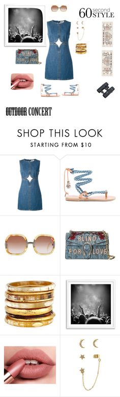 """#ConcertReady"" by thriftytee ❤ liked on Polyvore featuring Courrèges, Ancient Greek Sandals, Ted Lapidus, Gucci, Ashley Pittman, Accessorize, 60secondstyle and outdoorconcerts"