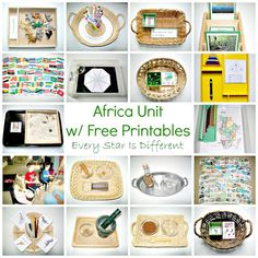 Montessori-inspired Africa themed learning activities and free printables for kids.