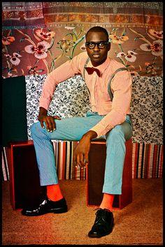 Omar Victor Diop, photographe sénégalais, exposition à la Maison de l'Afrique à Paris, 2014, homme noir
