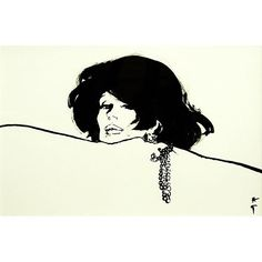 The elegant lady with jewlery. 1970's. The shadow on top of her nose is simply exquisite.  #renegruau #dress #models #style #inktober #master #fashion #fashiondesign #fashionillustration #fashionhistory #nyc #balenciaga #balmain #dior #night #paris #rimini #rome #scketch #ink #inkmaster #theartistthatchangedfashion