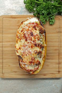 Chicken Parm-Stuffed Spaghetti Squash Recipe on Yummly