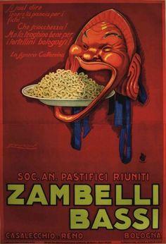 By Achille Luciano Mauzan, 1923, Soc. An. Pastifici Riuniti Zambelli Bassi. (I)