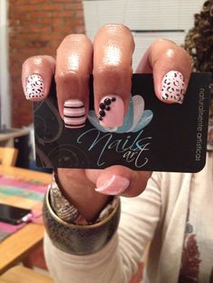 Acrylic nails, nails art, pink nails Love these , gotta try :)