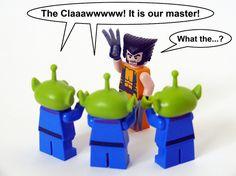 The claaaaawwww and Wolverine! hahahahahaha LEGO humor.