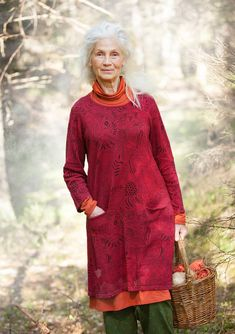 """Svampskogen"" tunic in linen/cotton – Lost in the ancient forest – GUDRUN SJÖDÉN – Webshop, mail order and boutiques 