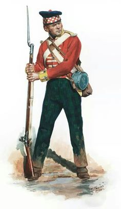 Battalion Company Private of the Sutherland Highlanders as he would have appeared at the Battle of New Orleans, by Don Troiani