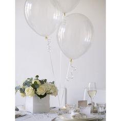 20 Ballons Latex Transparent A GARNIR Célébration Fête Mariage Anniversaire Soirée