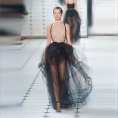 Novelty See Through Long Black Tulle Skirts Floor Length Skirts For Women Sexy Summer Style New Arrival