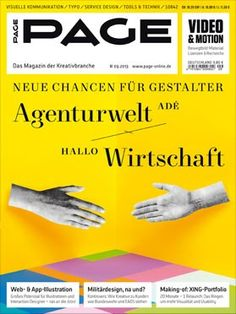 PAGE 09.2013: Agenturwelt adé - hallo Wirtschaft