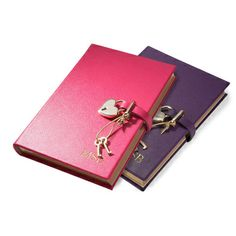 Personalized Leather Heart Lock Diary