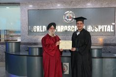 Dr. Nael Mutar receiving certificate of  Endoscopy at World Laparoscopy Hospital. For more detail please log on to www.laparoscopyhospital.com