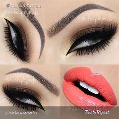 Bella beauty, smokey eye for brown eyes, eye makeup, makeup tips, hair make Pretty Makeup Looks, Gorgeous Makeup, Love Makeup, Makeup Inspo, Makeup Inspiration, Makeup Tips, Beauty Makeup, Hair Makeup, Full Makeup