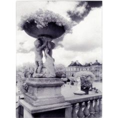 Trademark Fine Art 'Jardin du Luxembourg' Canvas Art by Kathy Yates, Size: 35 x 47, White
