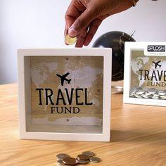 craete a travel fund money box travel diy craete a travel fund spardose reise diy Travel Fund, Travel Box, Travel Money, Cadre Diy, Savings Jar, Money Jars, Anniversaire Harry Potter, Diy Shadow Box, Personalized Books